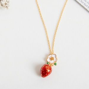 Kate Spade picnic perfect strawberry Necklace